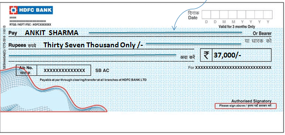 Image result for bearer cheque image